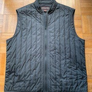 Michael Kors Men's Black Quilted Vest Zip Size L